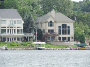 Beautiful luxury lake estates on Pine Lake West Bloomfield
